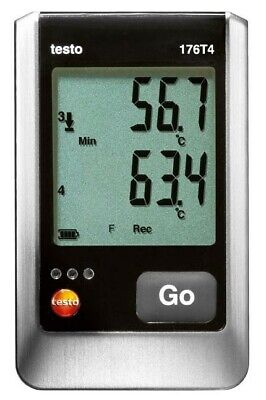 Testo 176 T4 4-channel Temperature Data Logger With 4 External Tc