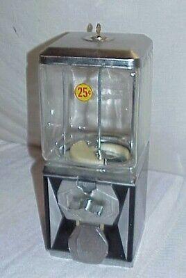 Aa Co Gumball Vending Machine 25 Cent Glass Square Northwestern Globe