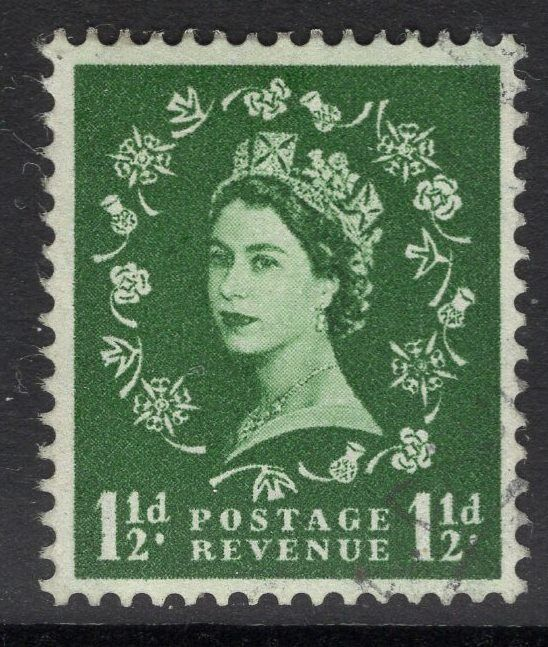 GB SG589 1958 1½d GREEN FINE USED