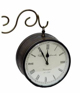 Railway double sided clock-20% off advertised price
