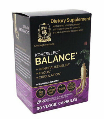 Koreselect Balance Menopause Relief Women Korean Red Ginseng 30 Vegan Capsule