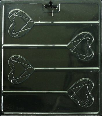 Geometric Heart Pop Lolly Chocolate Candy Mold Make 'N Mold -