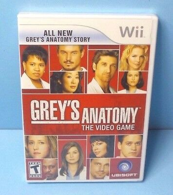 Grey's Anatomy: The Video Game (Nintendo Wii, 2009) BRAND NEW FACTORY SEALED - Anatomy Games