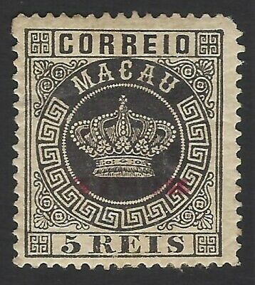 TIMOR #1 1884-85 Crown 5r black MH