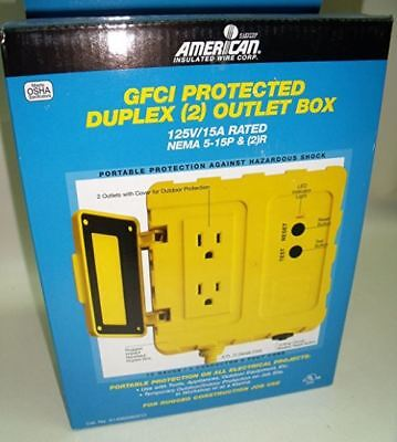 American GFCI Duplex 6 ft. Box and Cord, 12 Gauge, New Shipping !!
