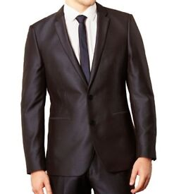 NEW Blue Tonic Suit Jacket 36R Mens Formal Tailored Fit Thomas Nash