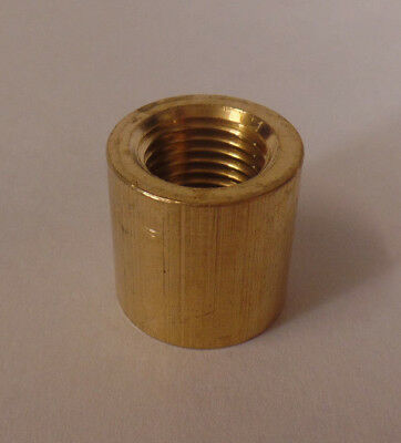 """New Heavy Brass Nipple & Pipe Coupling, Unfinished Brass, 3/4"""" ht., 1/4F #BC877U"""