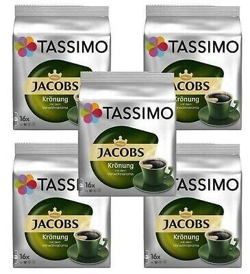5 x Packs Tassimo Jacobs Krönung T Discs Pods - 80 T Discs 80 Drinks Kronung