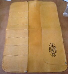 FAITHFULL 8 POCKET LEATHER CHISEL & TOOL STORAGE ROLL