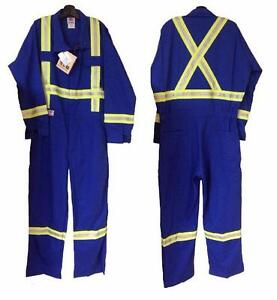 """Geliget Flame Resistant Royal Blue FR Coveralls with 2"""" Tape (TALL) (BRAND NEW)"""
