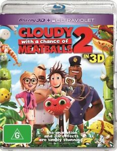 Cloudy With A Chance Of Meatballs 2 (Blu-ray 3d,+blu-ray+ultraviolet, 2014)NEW