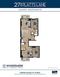 Spectacular 2 Bedroom-2 Balcony Suites –The Windermere