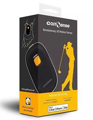 NEW Golf Sense Revolutionary Black 3D Motion Sensor Swing Analyzer GolfSense iOS