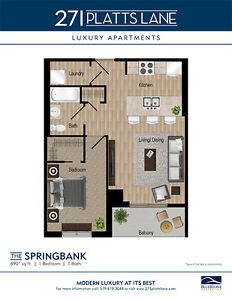 1 & 2 Bedroom Barrier Free Apartments near Cherryhill Mall