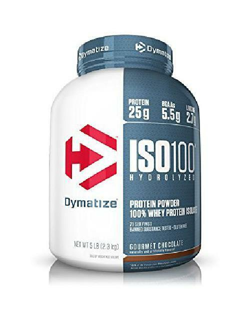 Dymatize ISO 100 Whey Protein Powder Isolate, Gourmet Chocol