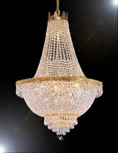 French empire chandelier ebay french empire crystal chandelier lighting h 24 aloadofball Image collections