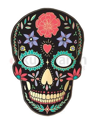 Maske Dia De Los Muertos Schwarz 19cm/28cm Halloween Mumie Party Kostümparty ()
