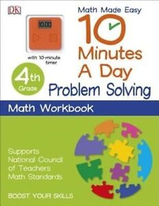 10 Minutes a Day: Problem Solving, Fourth Grade (Math Made Easy) by