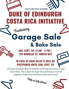 Duke of Edinburgh Fundraising Garage & Bake Sale