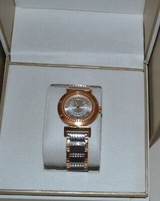 VERSACE P5Q80D499S089 WOMEN'S VANITY TWO TONE STAINLESS STEEL WATCH NEW