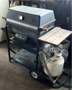 West Bend propane BBQ and a portable table top BBQ stove