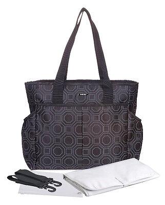 Designer Baby Changing Bag Luxury Nappy Bag 3PCS Black