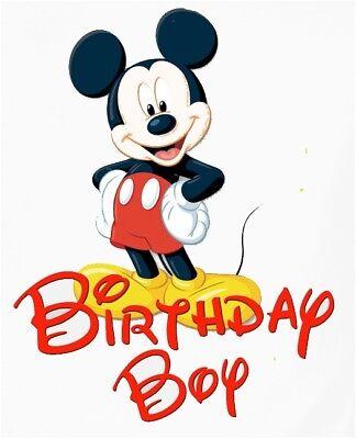 ::::::DISNEY MICKEY MOUSE  BIRTHDAY BOY::::::::: T-SHIRT IRON ON TRANSFER - Mickey Mouse Birthday Boy