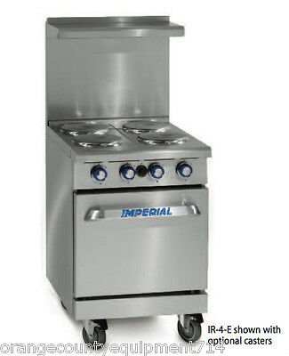 New 24 4 Burner Electric Range Standard Oven Imperial Ir-4-e 4581 Restaurant