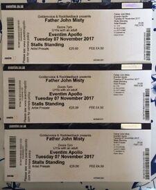 Father John Misty tickets x 3 - 07 November 2017 - Eventim Apollo, London