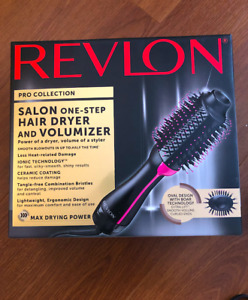 Revlon Hair Dryer and Blowout  look - curler