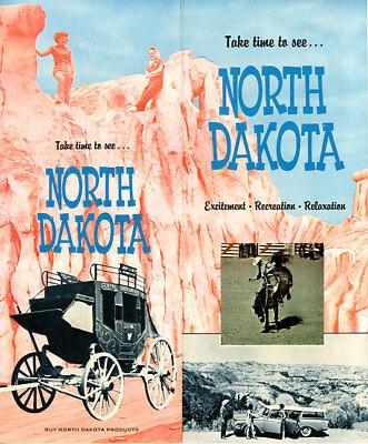 1950's? North Dakota Travel Brochure from N.D. Travel Department
