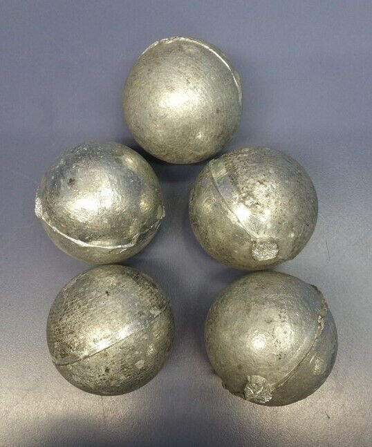 5 lbs. Zinc Ingot Sphere Ball 99% Pure for Plating, Castings, Lures, Smithing