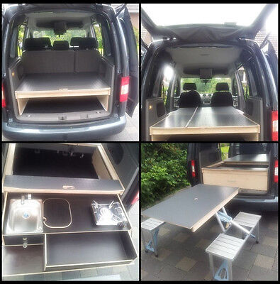 vw caddy camping gebraucht kaufen nur 2 st bis 65. Black Bedroom Furniture Sets. Home Design Ideas