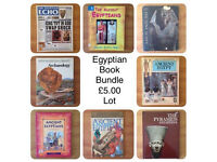 BUNDLE OF 9 REFERENCE HARDBACKS BOOKS ON EGYPT & EGYPTIANS
