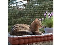 Balcony cat netting Trixie and poles from Zooplus