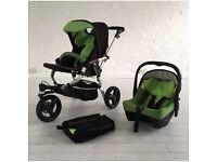 Jane Slalom Strata Pro travel System (reversible pushchair, baby car seat, bag)