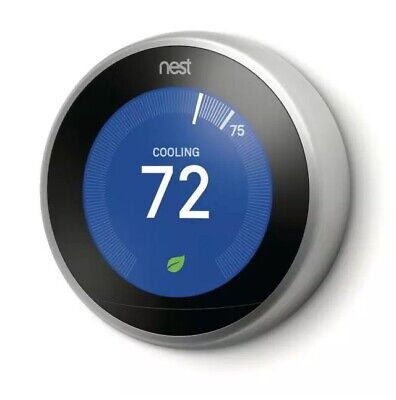 GOOGLE NEST LEARNING THERMOSTAT 3RD GEN STAINLESS T3019US BRAND NEW SEALED BOX
