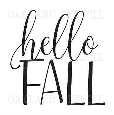 Thanksgiving Fall STENCIL**hello Fall**for Signs Autumn Chalkboard Canvas Pillow