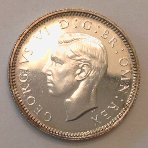~1937 Great Britain George VI Proof Silver Sixpence