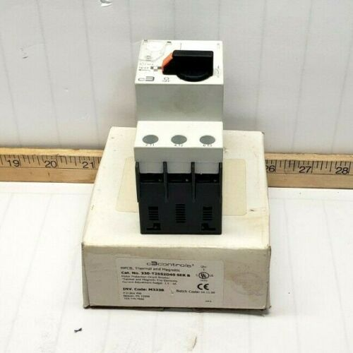 NEW C3CONTROLS MOTOR PROTECTION CIRCUIT BREAKER 4A 3HP 690V 330-T25S2D40