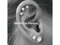 Mobile Ear Piercing fully trained and qualified
