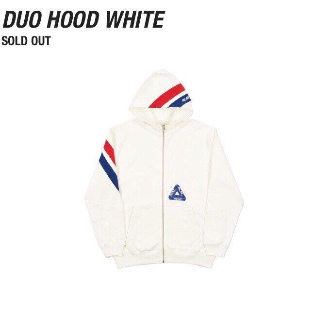 e67f26465a4b Palace duo hood white (zip hoodie)