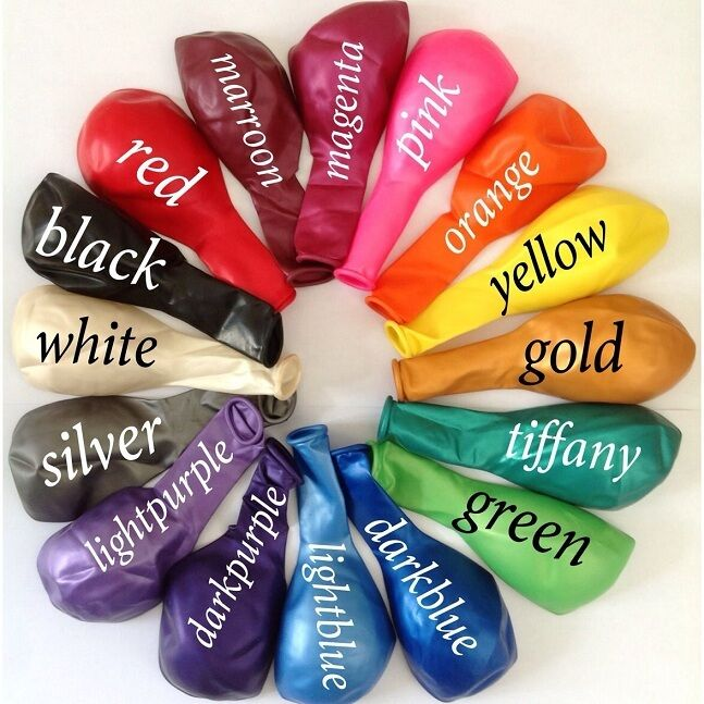 1 to 250 12 19 Colors High Quality Pearl Latex Thick Party Balloons 3.2g Helium