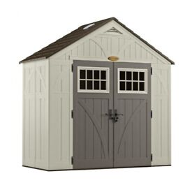 Suncast Cascade Plastic Apex Shed (8 ft. x 4 ft. and offers 206 cu. ft. of storage)