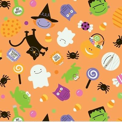 Trick Or Treat Costumes For Kids (Trick or Treat Orange Main by Doodlebug Designs for Riley Blake, 1/2 yard)