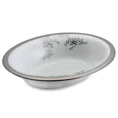 Vera Wang Wedgwood China VERA LACE PLATINUM Oval Vegetable Serving Bowl - NEW!