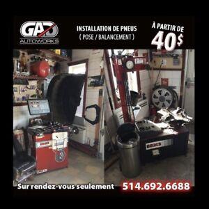 Pose de pneu / Balancement de roue / Tire installation / TPMS
