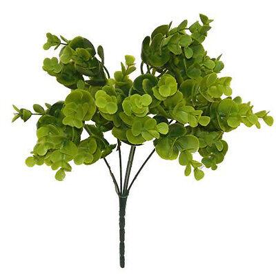 "Eucalyptus Bush 15"" ~ Greenery Filler Silk Flowers Centerpieces Wedding Decorate"