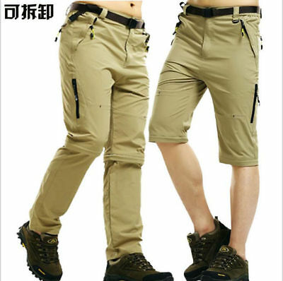 Plus Size Men Quick-dry Pants Fishing Hiking Outdoor Detachable Trousers XL-5XL