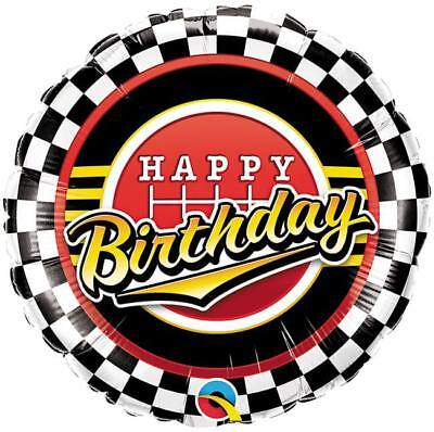 Happy Birthday Checkerd Flag Racing Foil - Checkerd Flags